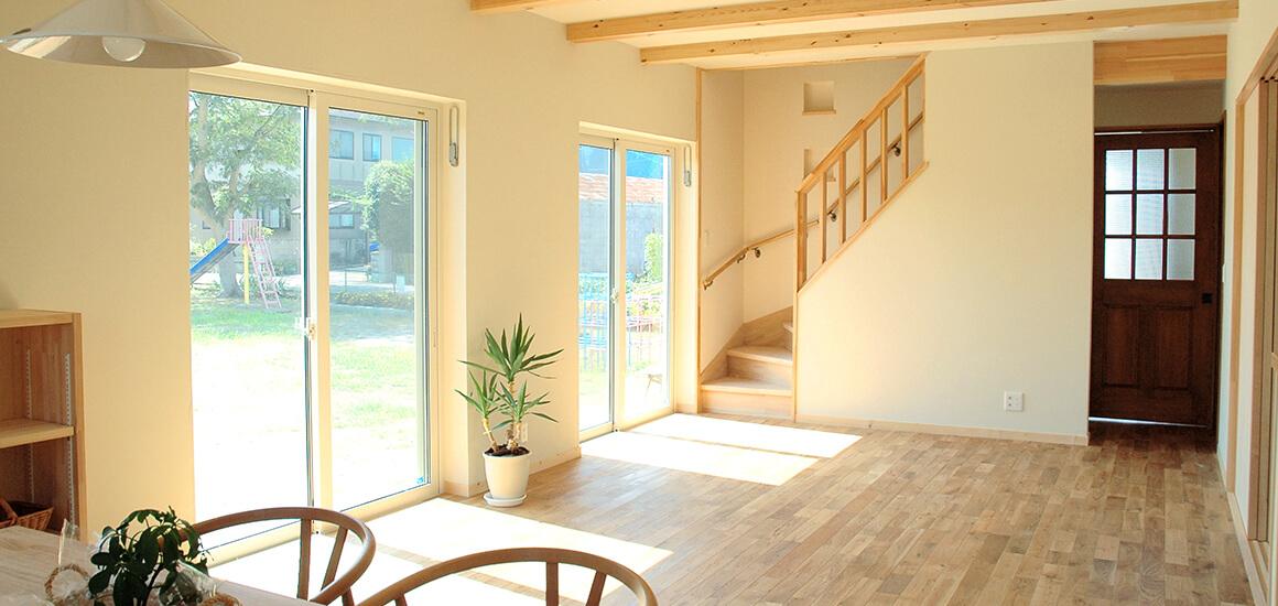 自然素材の木造住宅